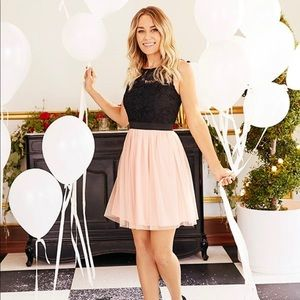 LC Lauren Conrad Lace & Tulle Fit and Flare dress